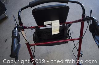 Folding Walker w/Seat