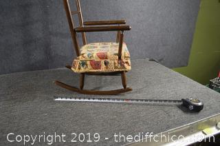 Vintage Child Rocking Chair