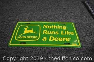 John Deer License Plate