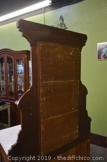 Walnut Victorian Dresser w/Marble and Mirror