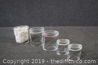 5 Glass Storage Containers