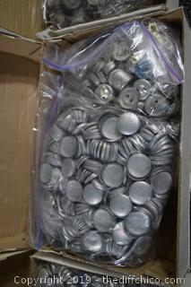 3 Boxes of Material Buttons