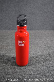 Red Klean Kanteen Sports Bottle