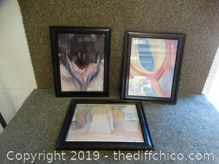 3 Framed Art Pics