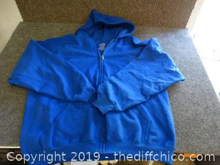 Gildan Zip Up Sweatshirt 2xl