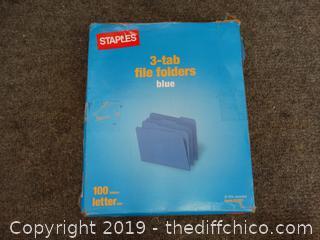3 Tab File Folders