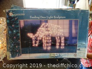 Light Up Deer Yard Decor