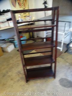 Fold Up Wood Shelf