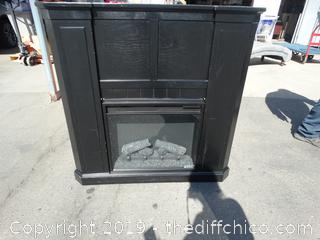 Electric Fire Place  2 Pieces
