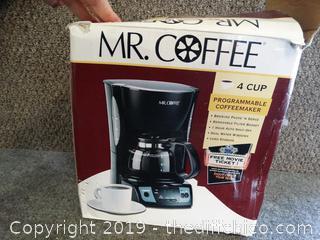 MR. Coffee 4 cup Coffee Maker NIB