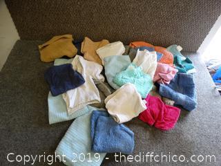 Wash cloths & Few Hand towels