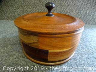 Wood piece With Lid