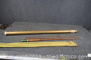 Bamboo Fly Rod w/Case and Sock