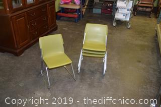 4 Children Chairs-green