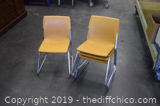 4 Children Chairs-gold