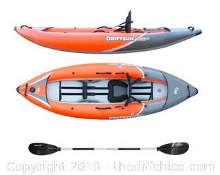 Driftsun Rover 120 Inflatable Single Person Whitewater Kayak (J14)