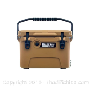 Driftsun 20 Quart Performance Ice Chest - Insulated Rotomolded Cooler - Tan (J15)