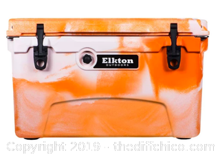 Elkton Outdoors 45 Quart Ice Chest - Orange (J17)