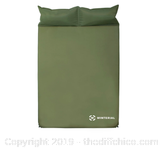 WINTERIAL DOUBLE SELF INFLATING SLEEPING PAD - GREEN (J22)
