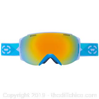 WINTERIAL FRAMELESS SKI & SNOWBOARD GOGGLES WITH CASE - TEAL (J23)
