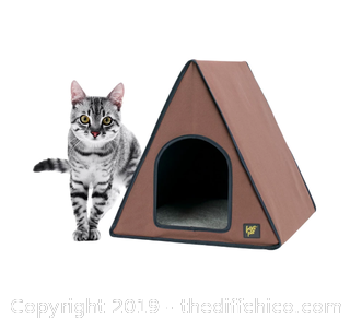 Frontpet A-Frame Heated Cat House For Outdoor & Indoor Cats (J9)