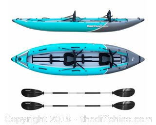 Driftsun Rover 220 Inflatable Two Person Whitewater Kayak (J27)