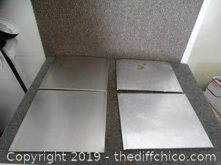 4 Stainless Steel Sheets needs cleaning