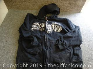South Pole Zip Up Hoodie size xl