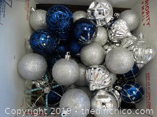 Blue & Silver Ornaments