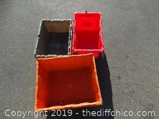 1 Flip Top Tote -2 Flip Top Crates
