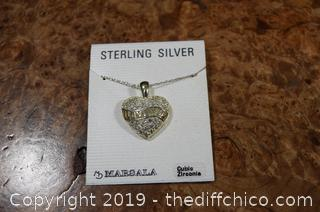 Sterling Silver Heart (I Love You) and Chain