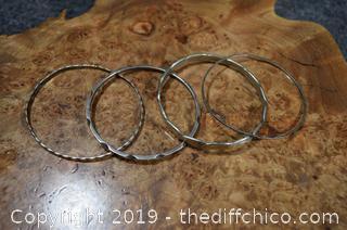 4 Sterling Silver Bracelets