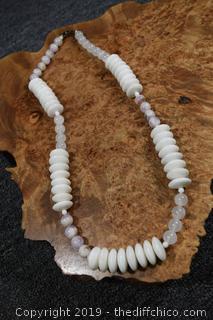 24in long Semi Precious Stone Necklace