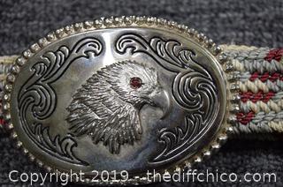 Eagle Belt Buckle w/44in long Belt