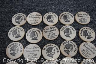20 Wooden Nickels