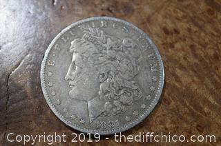 1881-O Morgan Dollar 90% Silver