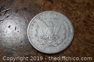 1890 S Morgan Dollar 90% Silver