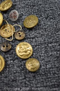 Military Button Collection and More