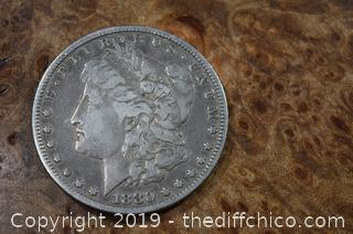 1880 Morgan Dollar 90% Silver