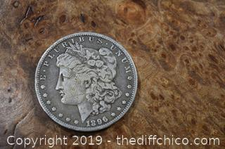 1896 O Morgan Dollar 90% Silver