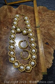 Napier Necklace and 2 Pair of Earrings