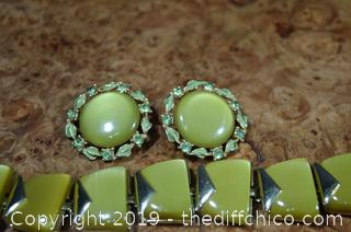 Vintage Earrings and Bracelet Set