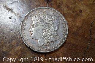 1890 Morgan Dollar 90% Silver