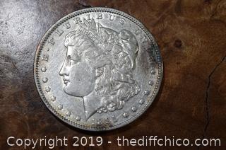1891 Morgan Dollar 90% Silver