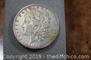 1900-o Morgan Silver Dollar 90% Silver