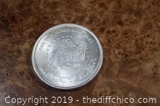 One OZ 999 Pure Silver