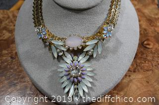 Unique Necklace and Earrings