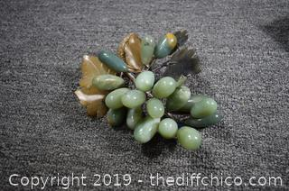 Carved Jade Grapes