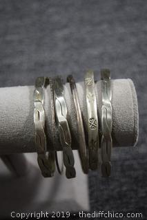 6 Sterling Silver Bracelets