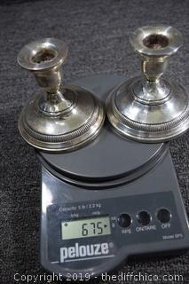 Weighted Sterling Silver Candle Holders